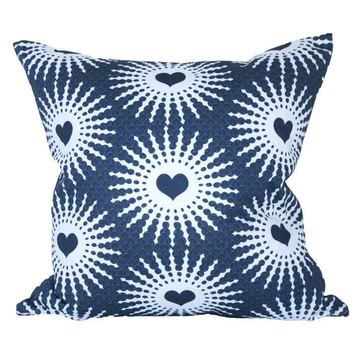 Design Kist   Shweshwe Hearts Cushion Cover   Homeware   5rooms.com