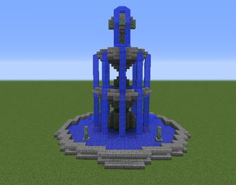 Fountain on 3 Levels - GrabCraft - Your number one source for MineCraft buildings, blueprints, tips, ideas, floorplans!
