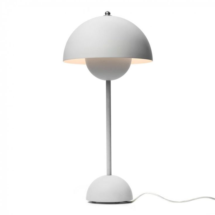 Flowerpot VP3 Matt Light Grey Bordslampa | &Tradition | Länna Möbler | Handla online