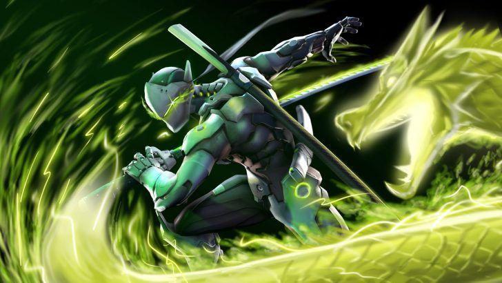 Download Genji Dragon Overwatch Art by Chaepae 1920x1080
