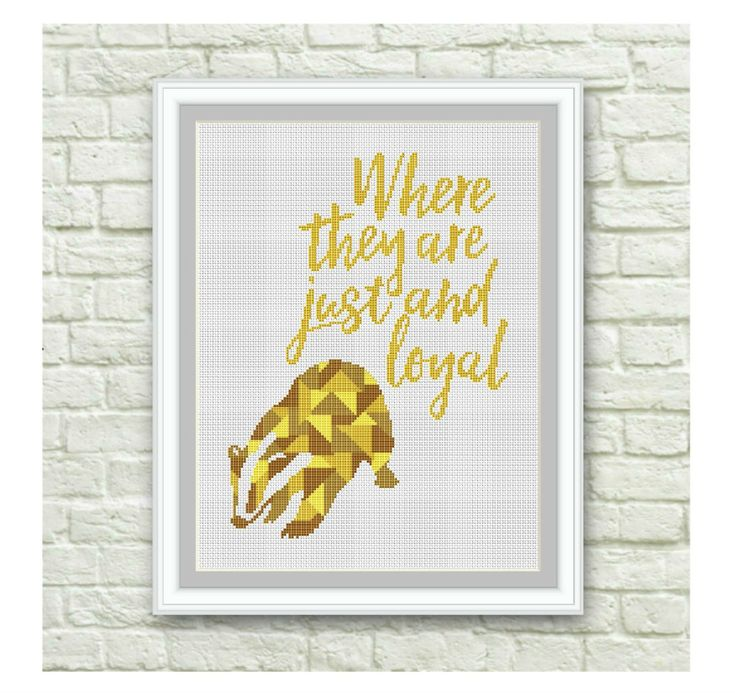 BOGO Free!Hufflepuff Cross Stitch Pattern, Hogwarts Cross Stitch Chart, Harry Potter, TV Show Counted Cross Stitch,PDF Instant Download,S101 by ElCrossStitch on Etsy
