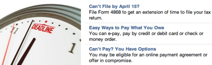 Missed the Tax Filing Deadline? (April 15th) -- Don't Panic!   Tips on what to do...