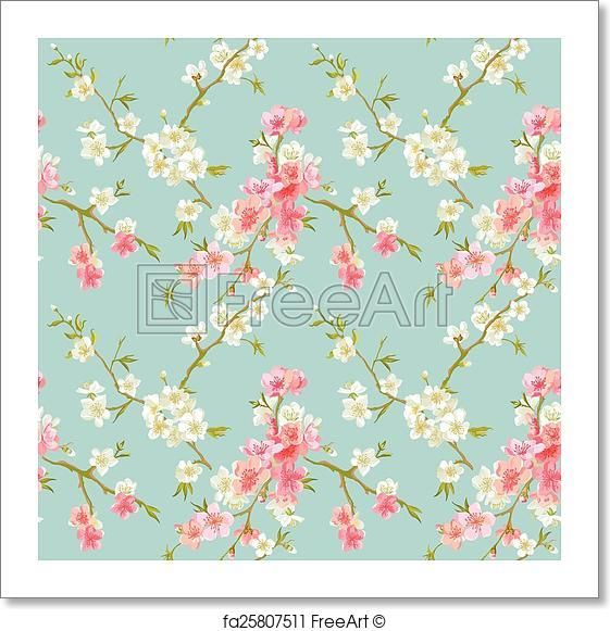 Free Art Print Of Spring Blossom Flowers Background