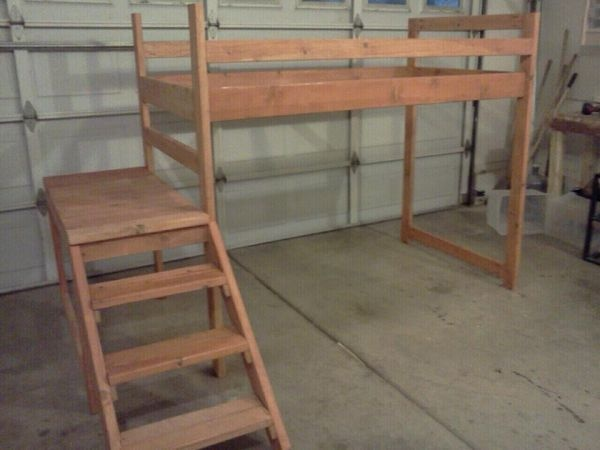 Twin Sized Loft Bed from craigslist
