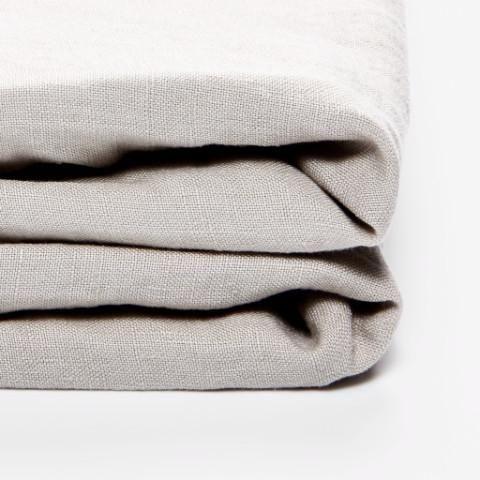 In Bed 100% Linen Duvet Cover - Dove Grey