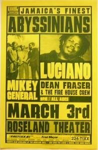 Abyssinians Luciano Portland Reggae Concert Poster