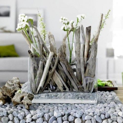 Driftwood is a great material for DIY projects.  SIMPLE TWIGS TOO, ESPECIALLY FROM ALONGSIDE A CREEK BED,... DISTRESSED WITH A WHITE CHALK WASH WOOD GIVE SAME FEELING