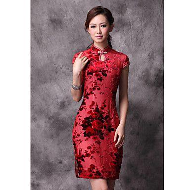 Altura Mujeres Final Mulberry seda vestido chino – EUR € 57.74