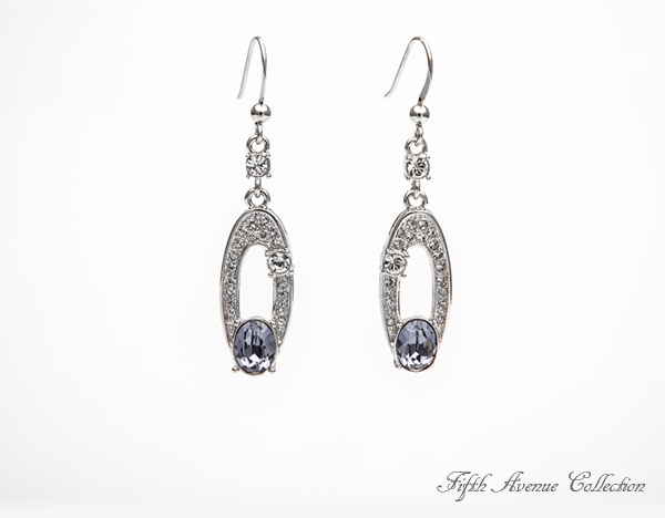 Lights, Camera, Action earrings are set in a wave of Swarovski's clear and colored crystal. Will be part of your show which starts your Jewellary Business