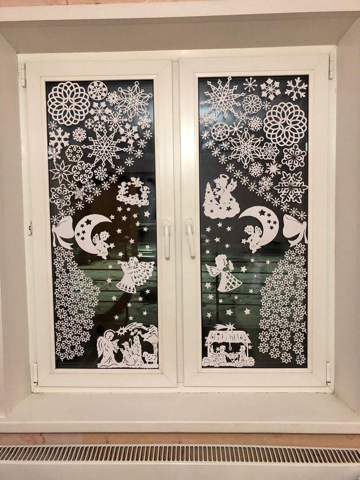 Как украсить окна снежинками картинки