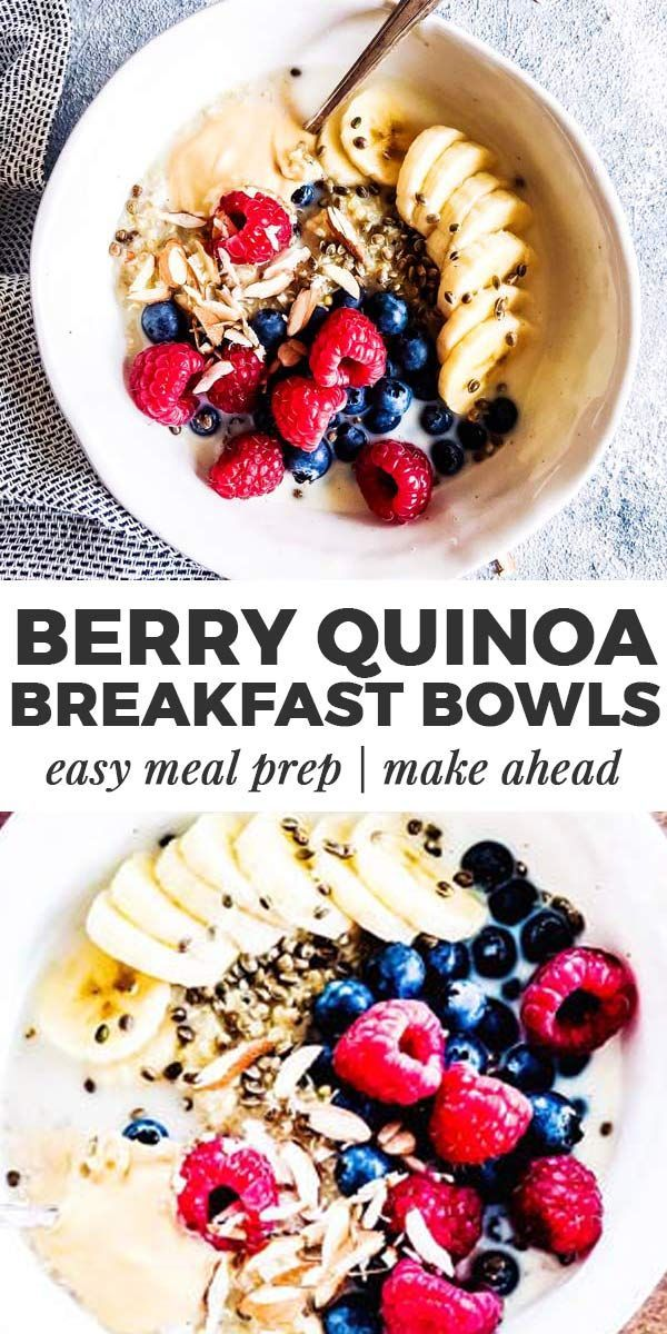 This Very Berry Quinoa Breakfast Bowl is an easy clean eating breakfast for busy…