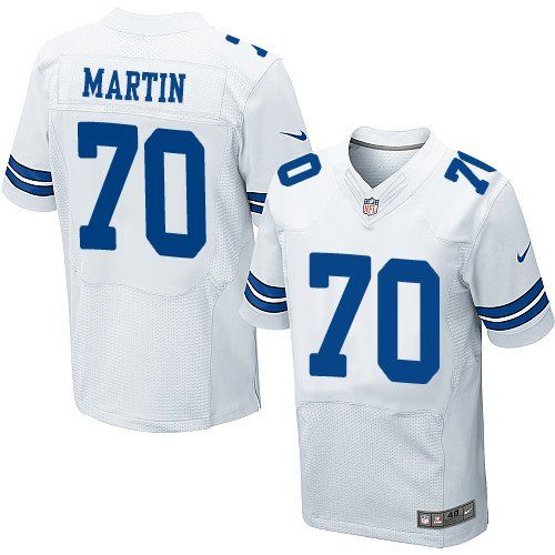 44a082cff14 ... Nike Dallas Cowboys Mens 70 Zack Martin Elite White Road NFL Jersey ...