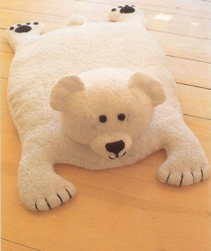 Polar Bear Rug Knitting Pattern : A knitting pattern for polar bear rug baby at
