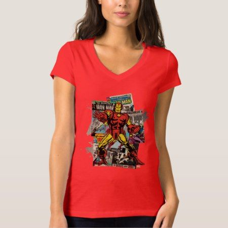 Iron Man Retro Comic Collage T-Shirt - click to get yours right now!