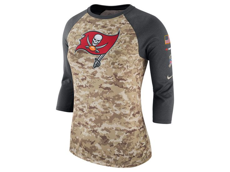 Tampa Bay Buccaneers Nike NFL Women's Salute To Service 3/4 Raglan T-Shirt