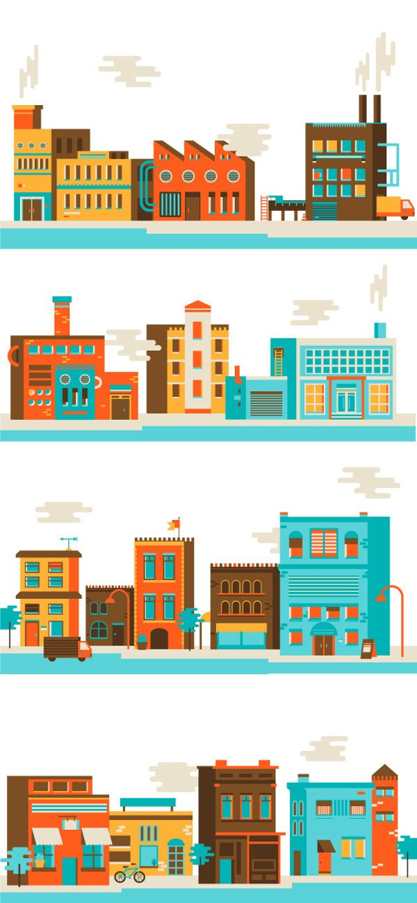 Ethical Outsourcing Icon Illustrations by Sabrina Smelko, via Behance