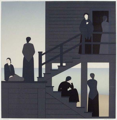 Will Barnet (USA, 1911-2012) - Waiting, 1976
