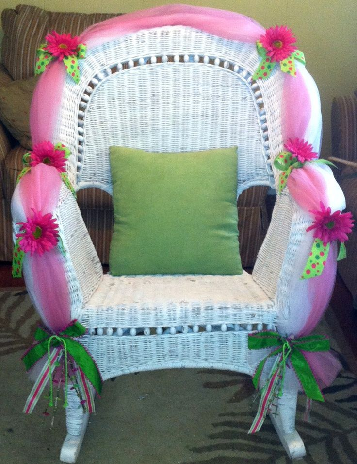 How To Decorate Baby Shower Chair