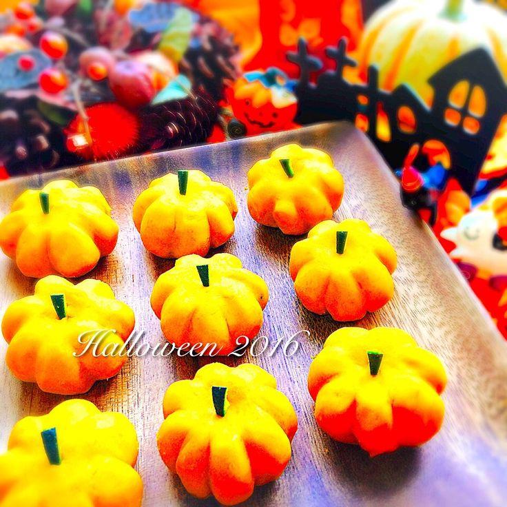 Anna's dish photo 材料3つ 簡単ミニかぼちゃ ハロウィンデザートに | http://snapdish.co #SnapDish #レシピ #洋菓子の日(9月29日) #簡単料理 #ハロウィン #ケーキ #お弁当