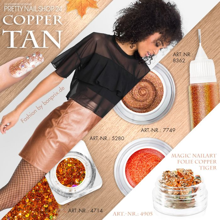 """#copper #tan #nailart #nails Eine perfekte Farbe für diese Jahreszeit ist """"Copper Tan"""". Die schimmernde Farbe lässt sich super kombinieren. Auch auf den Fingernägeln. Lasst Euch inspirieren, Eure Juliane."""