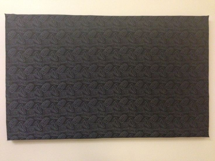 Sound dampening panel, 60x100x3 cm, black bottom with sewn silver color structure.