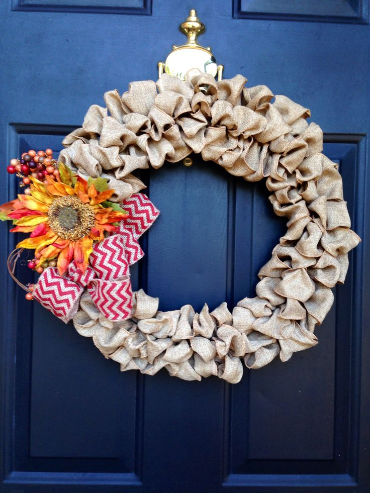 42 best deco mesh wreaths images on pinterest deco mesh for Burlap ribbon craft ideas