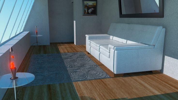 Room Illumination with Maya 3D an Mental Ray