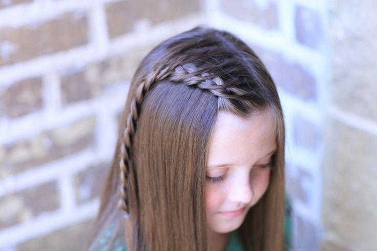 coiffure fille tresse cascade cheuveux long