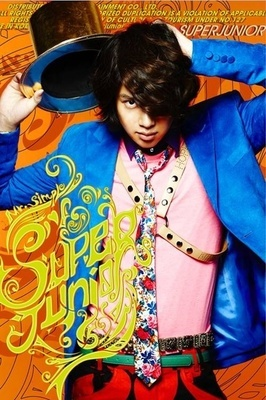 Super Junior, Heechul - Mr. Simple    There is a lot going on with this picture...it kinda contradicts the Mr. Simple idea...