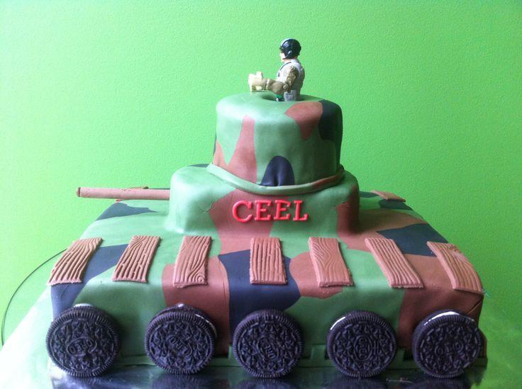 Legertank taart, super voor een leger thema feestje