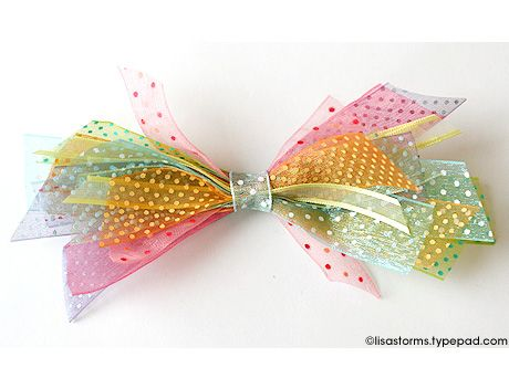 Use ribbon scraps to make bows -  for hair or presents!