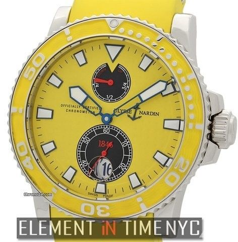 Ulysse Nardin Maxi Marine Diver Maxi Marine Diver Chronometer Yellow Ref. 263-33-3/941 Price On Request