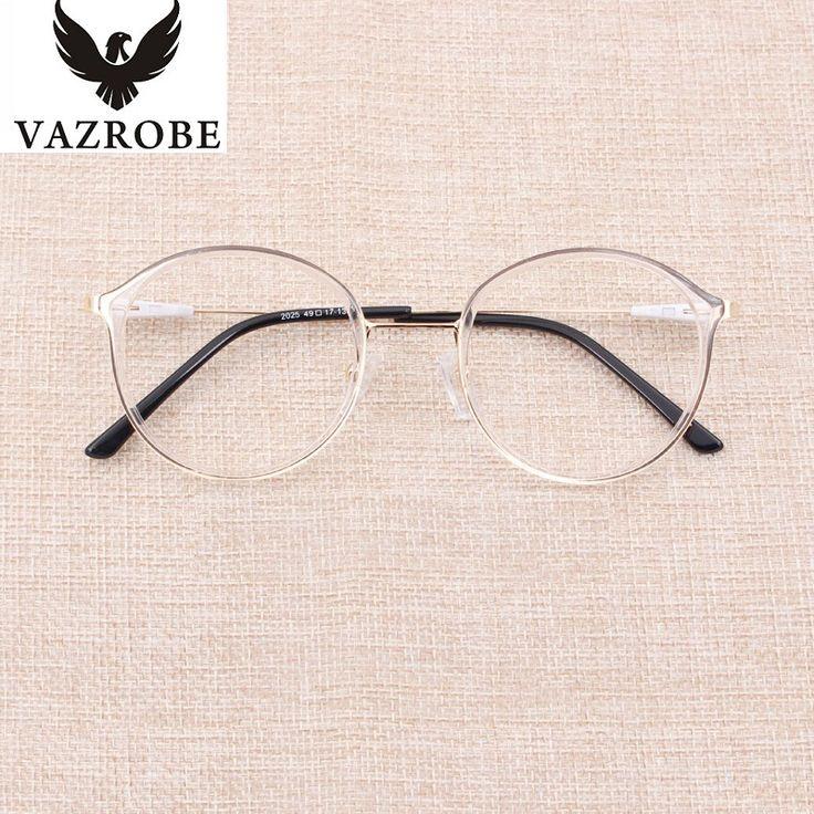 Vazrobe Transparent Glasses Frame Women TR90 Rim+Alloy Temple Clear Eyeglasses Frames for Female Spectacles Prescription Fashion