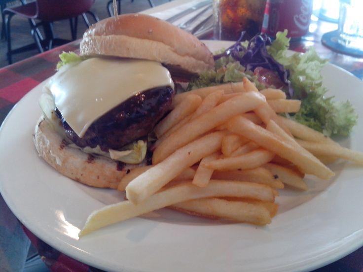 Burger, Fries & Caesar Salad @ The Ranch, Paya Lebar