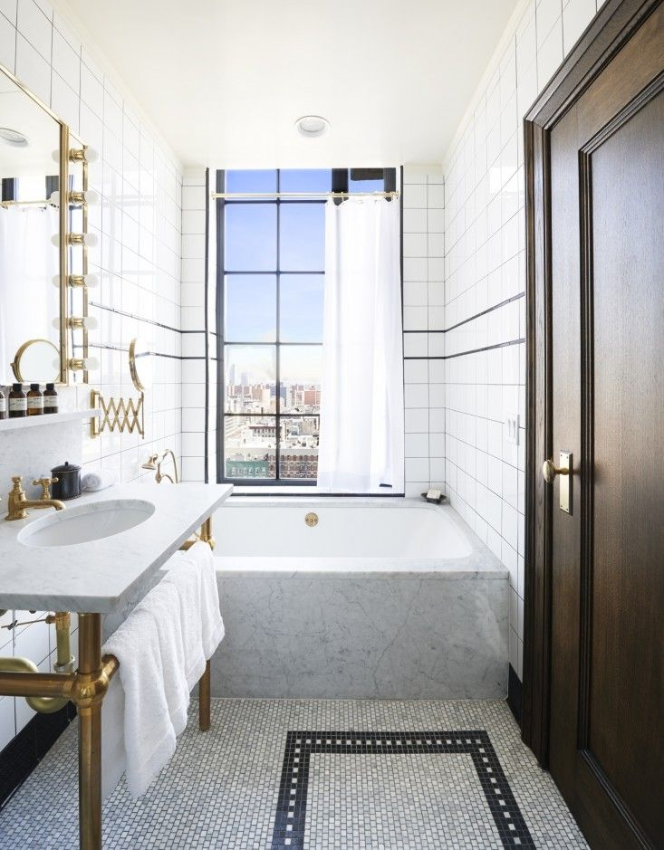 Ludlow-Hotel-bathroom – tub-with-view-Remodelista-8