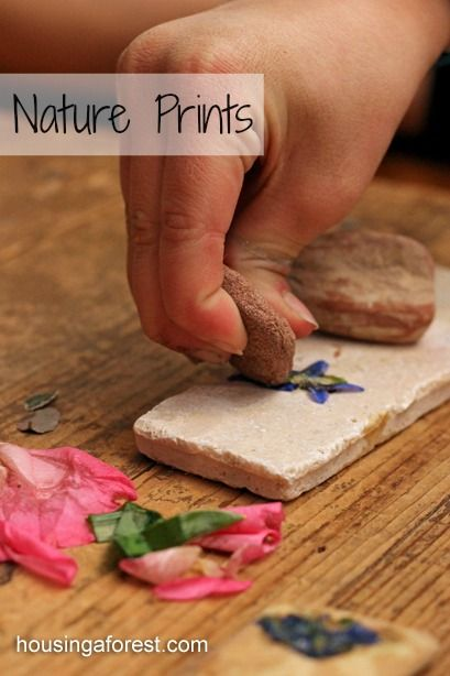 Nature Prints ~ the kids LOVE this process.