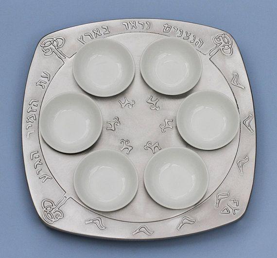 Passover  Seder Plate by Shraga Landesman by ShragaLandesmanArt