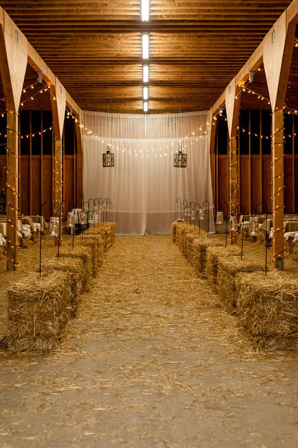 there's a TON of hay bales to use... maybe outline the dance floor inside the barn? can also serve as a seat to rest when out of breath due to hiney shakeage.