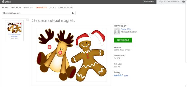 Festive Free Christmas Templates for Any Holiday Project: Christmas Magnets Template for Microsoft Word