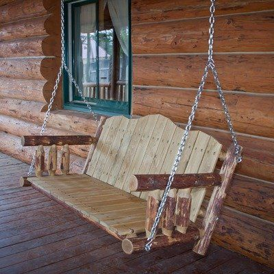 7 best images about fancy outdoor wood projects on for Log swing plans