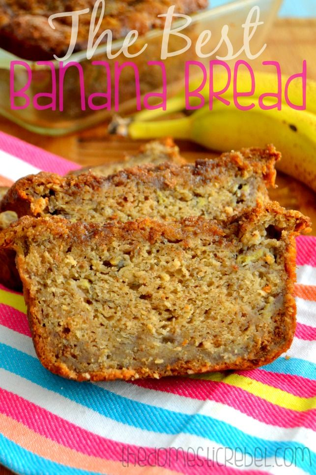 The BEST Banana Bread -- moist, tender and delicious, this banana bread has a special secret ingredient that makes it the BEST!
