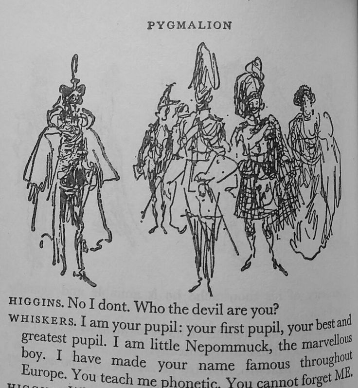 Feliks Topolski - illustration for Pygmalion