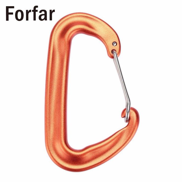 Forfar Fofar Durable 12KN/2600lbs Aluminum Wire Gate Spring Clip D Carabiner Backpack Hammock Camping Hiking Climbing Equipment