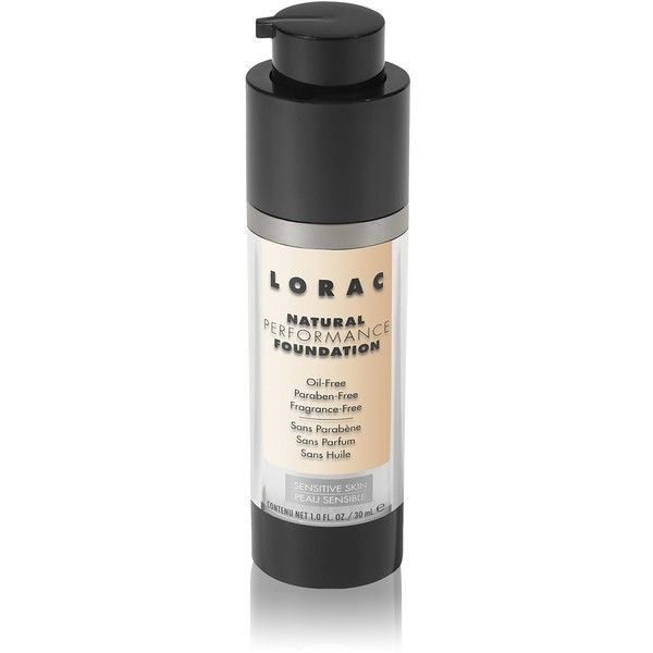 LORAC Natural Performance Foundation - Porcelain (47 CAD) ❤ liked on Polyvore featuring beauty products, makeup, face makeup, foundation, lorac foundation, sensitive skin foundation, paraben free foundation, lorac and paraben-free foundation