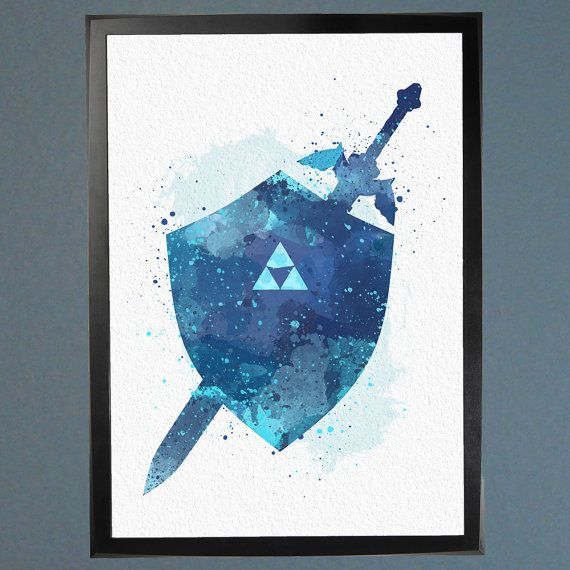 Master Sword and Hylian Shield The Legend of by WatercolorFontaine