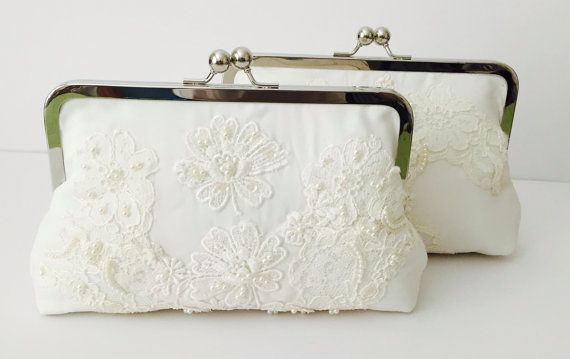 CUSTOM HEIRLOOM bridal wedding clutch  reuse an old by cutiegirlie