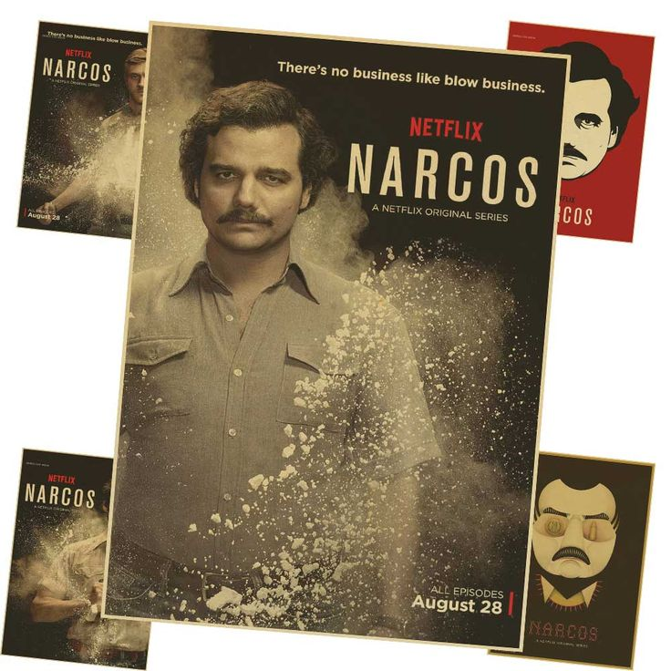 Narcos Colombia Pablo Escobar Movie retro Poster Classic Vintage Kraft Decorative DIY Wall Sticker Home Bar Posters Decor Gift