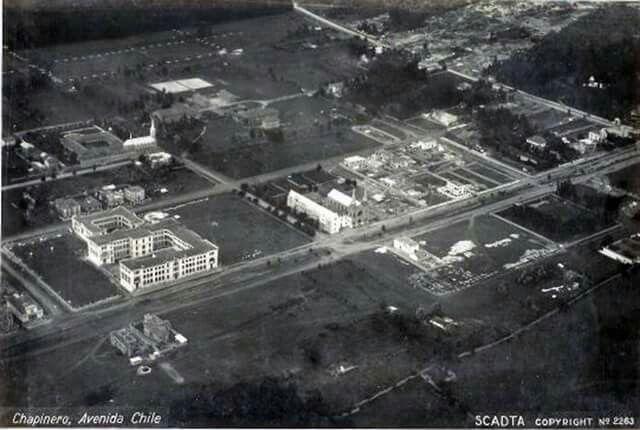 Vista aerea av. Chile calle 72 en 1930