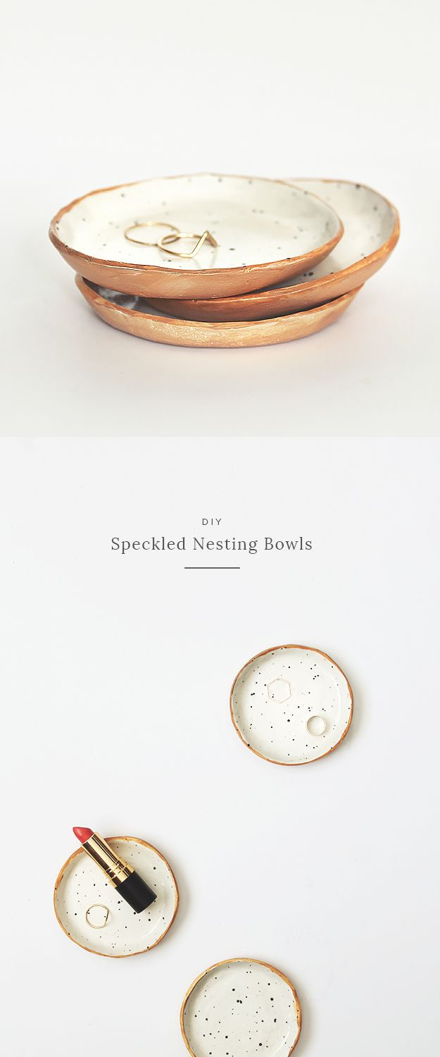 DIY Teen Room Decor Ideas for Girls   DIY Speckled Nesting Bowls   Cool Bedroom Decor, Wall Art & Signs, Crafts, Bedding, Fun Do It Yourself Projects and Room Ideas for Small Spaces http://diyprojectsforteens.stfi.re/diy-teen-bedroom-ideas-girls