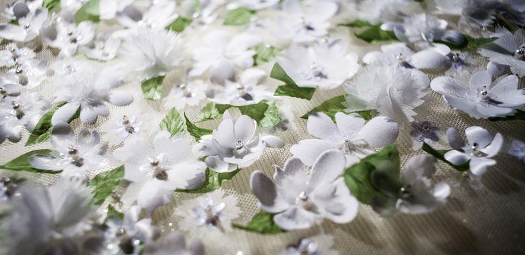 Small Gardening #gardening # embellishment # embroidery #french flower making #flowersembroidery # flower #rocaisl #leaves #artificial #wedding #sakura